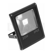 20W COB Outdoor LED Flood Light 6000K Daylight IP66 Black Waterproof