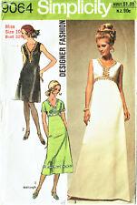 SIMPLICITY 9064  MISSES DESIGNER EVENING DRESS ~  VINTAGE 1971 PATTERN, Sz 10