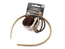 Light Brown School Snap Clips Headband Hair Band Bandeau Hair Elastic Bobbles