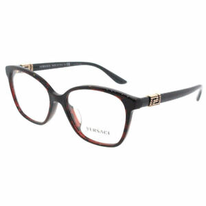 Versace Women Eyeglasses VE3235BA 989 Red/Havana Frame Demo Customisable Lens