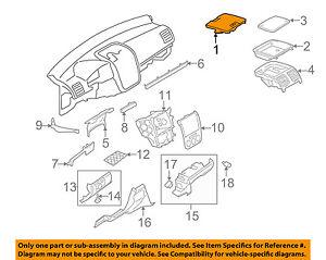 VW VOLKSWAGEN OEM 05-10 Jetta Instrument Panel Dash-Storage Cover 1K0819153C1QB