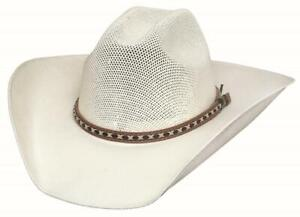 New QUICK DRAW 10X Off White Linen Straw Western Cowboy Hat Bullhide Montecarlo