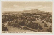 Roxburghshire postcard - The Eildons from Bemersyde, Sir Walter Scotts View