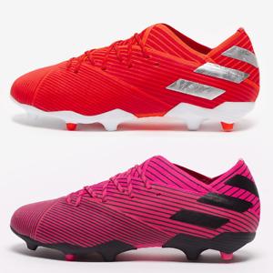 adidas Nemeziz 19.1 FG Football Boots Boys Girls Red Pink SIZE 2 3 3.5 4 5 5.5