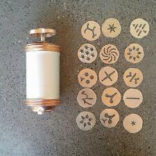 Vintage Large Big Mirro Aluminum Cookie Biscuit Pastry Press 15 Disks Spritz