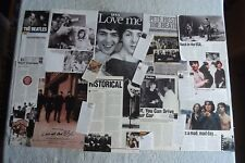 BEATLES - MAGAZINE CUTTINGS COLLECTION - CLIPPINGS, ARTICLES, PHOTOS X40.