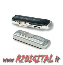 MULTI CARD READER LETTORE SCHEDE USB 2.0 ALL IN 1 SDHC SD MINI MEMORY STICK PRO