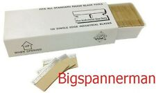 100 PACK OF SAFETY WINDOW SCRAPER BLADES  *FAST POST*  0.009""