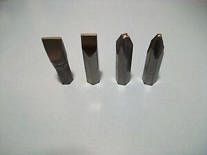 "Mannesmann Impact Driver Bit Set 4 pcs 5/16"" <> 8mm <> VPA GS TUV S2 Tool Steel"