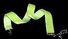 Samthalsband ,hell-grün - Kropfband - Velvet.choker 16 mm