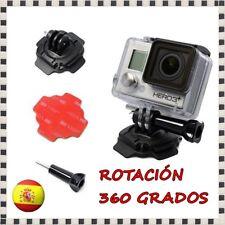 Soporte Giratorio 360º Curvo Adhesivo 3M para Casco GoPro Hero 3 4 SJ4000 Yi Cam