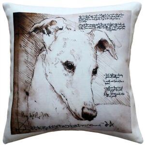 """Greyhound Throw Pillow Gorgeous 17"""" x 17"""""""