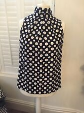 Next Blouse 16 Spotted Vintage Look Retro