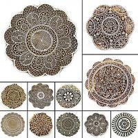 """Hand geschnitzt Muster drucken Block Textile Stempel Block print 3"""" Durchmesser"""