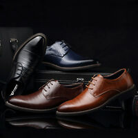 Men's Leather Shoes Formal Oxfords Pointed Toe Casual Wedding Dress Party Prom