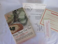 Vintage 1962 Waring Blender Cook Book Recipes How To Manual Lessons Cookbook