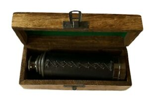 NAUTICAL BRASS TELESCOPE VINTAGE - DARK ANTIQUE WITH BOX  - 15 Inch MELBOURNE