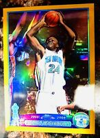 2003-04 Jamal Mashburn TOPPS CHROME GOLD REFRACTOR  /99 SHARP MINT Hornets