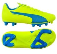 PUMA Evospeed 5.4 Fg Junior Football Boots Fxg Yellow/Blue