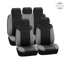 Toyota Prius 2012+ 9 Pz Set Completo Grigio Effetto pelle Nera Coprisedili