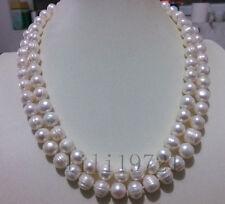 11-12mm weiße Süßwasser Perlenkette 90CM