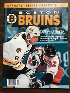 1990-91 BOSTON BRUINS Yearbook EXCELLENT CAM NEELY RAY BOURQUE ANDY MOOG