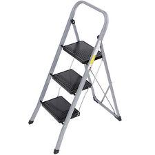 3 Step Ladder Folding Step Stool Ladder With Handgrip Anti Slip Sturdy Black