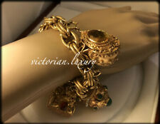 MUSEUM QUALITY! 18ct SOLID Gold Large FOB Charm Bracelet - VALUE $15,750