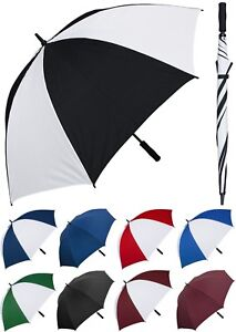 "Lot of 12 - 60"" Arc Fiberglass Windproof Golf Umbrellas-RainStoppers Rain/Sun UV"