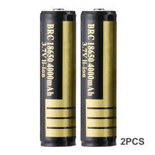 2x 3.7V 4000mAh BRC 18650 Li-ion Rechargeable Battery Pack for Flashlight BC826