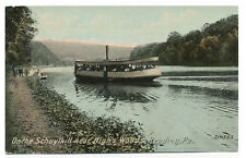 Reading PA * Ferry Boat on Schuylkill Near High's Woods  1912