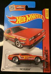 Hot Wheels DMC Delorean Red Long Card