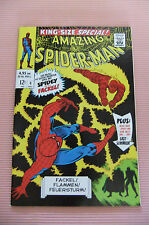 9.2 Nm- Near Mint King Size Special Spider-Man & Flame # 4 German Euro Variant