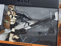 "Star Wars Mandalorian Speeder Bike Biker Scout Child Grogu Black Series 6"" NEW🔥"