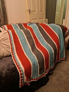 Handmade crochet blanket large