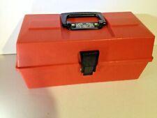 VINTAGE UMCO TACKLE BOX, SINGLE TRAY MODEL 1101, RED RARE WATERTOWN MN. USA