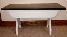 """Farmhouse Style Small Wooden Bench 25 7/8"""" L x 11 1/8"""" W x 13 1/2"""" H"""