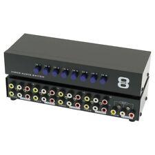 NOKO 8-Way Audio/Video 3-RCA Input Selector Switch