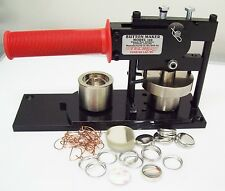 "1"" Tecre Button Making Kit  - Button Machine and 1000 Pin Back Button Parts"