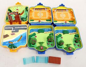 3 x TOMY 1997 Pokemon Polly Pocket Clamshell Mini Toy Sets Incomplete - B66