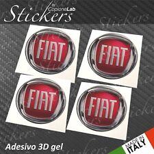 4 Adesivo Stickers Logo FIAT dal 2007 resinato 3D 65 mm auto