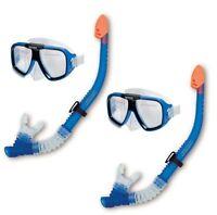 INTEX Reef Rider Adult Swimming Diving Mask & Snorkel SET OF 2