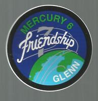 MERCURY 6 FRIENDSHIP 7 JOHN  GLENN  DECAL STICKER 3 INCHES