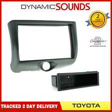 CT24TY05 Single/Double Din Stereo Fascia Panel Black For TOYOTA Yaris 1999-2003