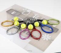 Mini Creative 3D Tennis Racket Ball Key Chain Key Ring Cute Gift Kid Gift