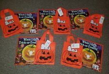 HALLMARK Halloween Gift Bags Snoopy and a pumpkin and sticker book lot of 5 sets