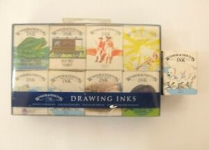 Winsor and Newton Artists' Drawing Ink Set of 8 + 1 x 14ml inks