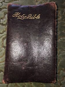 Vintage Holy Bible Leather Soft Cover King James Version