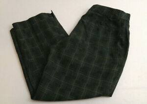 Lady Hagen Womems Ankle Golf Pants Green Plaid Size 6