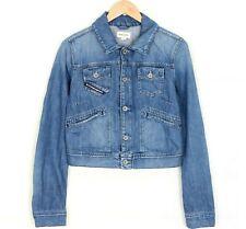 DIESEL Mod. TAIZ Blue Short Jeans Denim Jacket Women Size LARGE